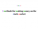 making money on stock market