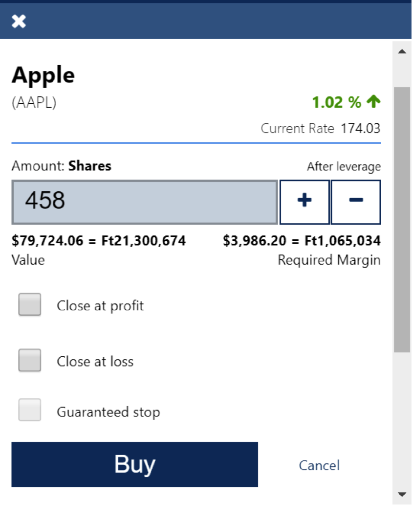 How to buy and sell Apple stocks on Plus500 broker-2