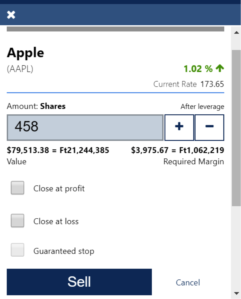 How to buy and sell Apple stocks on Plus500 broker-3